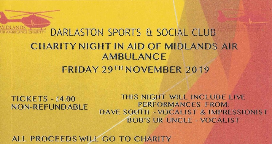 Charity Night in aid of Midlands Air Ambulance