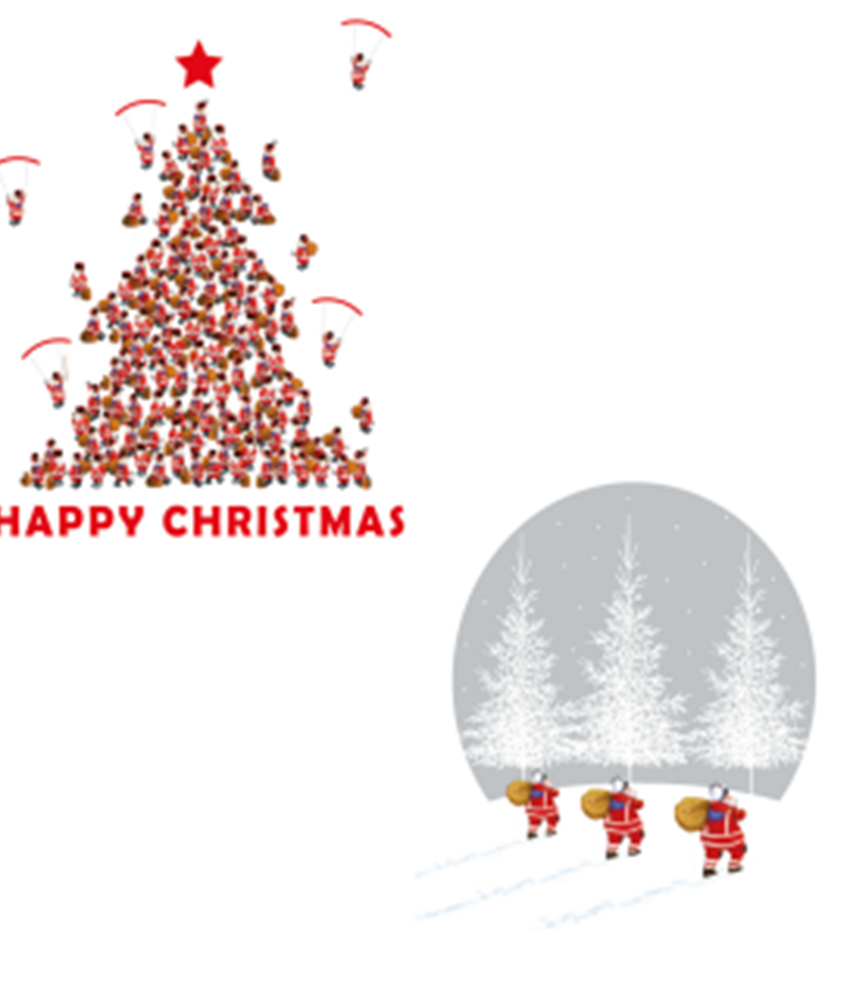 Santa's Frosty Walk and Santa Tree