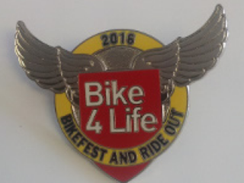Bike4Life 2016 Badge