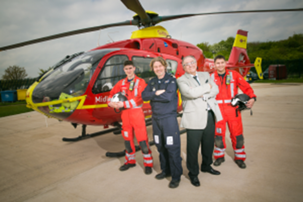 Pete Conway To Support Midlands Air Ambulance Charity