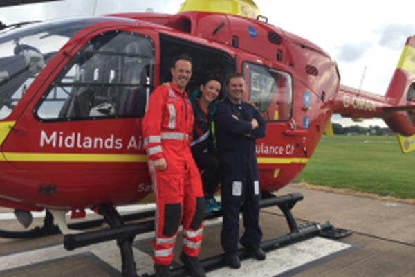 Midlands Air Ambulance Charity Reveals Its Number One JustGiving Fundraiser