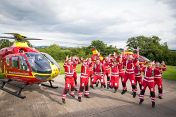 Twelve paramedics jumping!