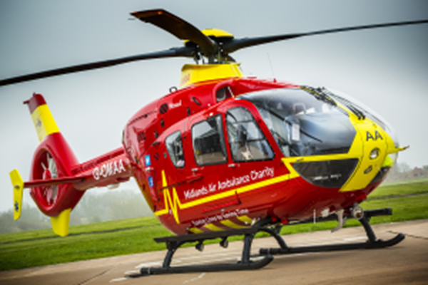 Midlands Air Ambulance Makes A Flying Visit To Cheltenham Festival