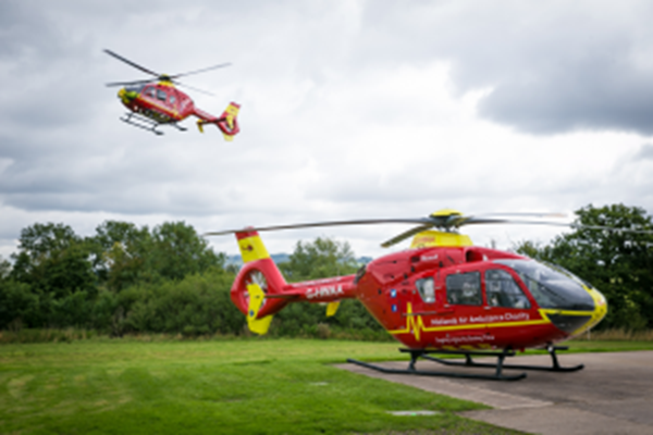 HomeXperts support Midlands Air Ambulance Charity