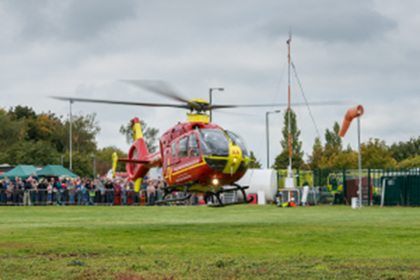 TWO AIRLIFTED AFTER AIRCRAFT CRASH