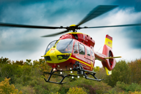 MAN AIRLIFTED AFTER CRASH