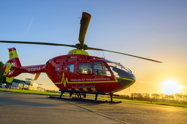Pedestrians airlifted from Oswestry RTC