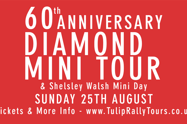 Tulip Rally Tours 60th Anniversary Diamond Mini Tour & Shesley Walsh Mini Day