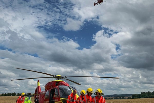 Three airlifted after two motorbikes collide in Hereford