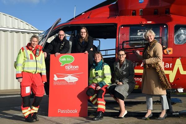 'Savemoney,save lives 'theTipton's new savings accountin partnership with Midlands Air Ambulance Charity