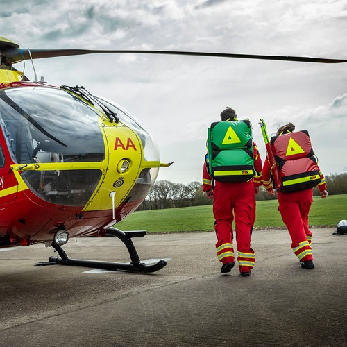 HELP Appeal Invests in New Kit Bags for Midlands Air Ambulance Charity