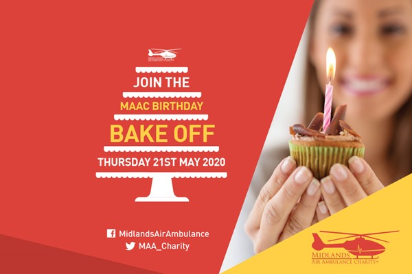 Join the 29th Birthday Bake Off for Midlands Air Ambulance Charity