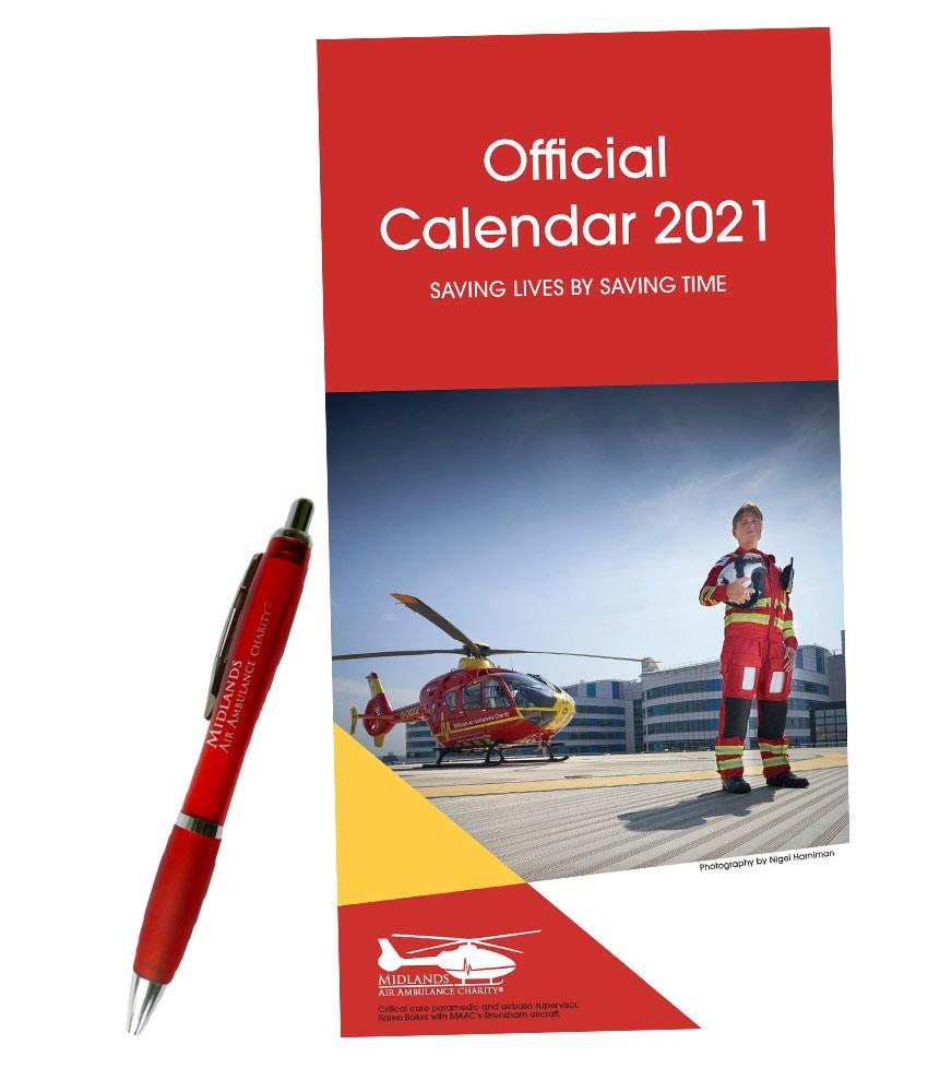 Commemorative Calendar and Pen Bundle