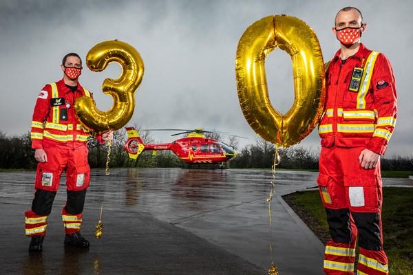 Midlands Air Ambulance Charity Celebrates 30 Years of Lifesaving Service