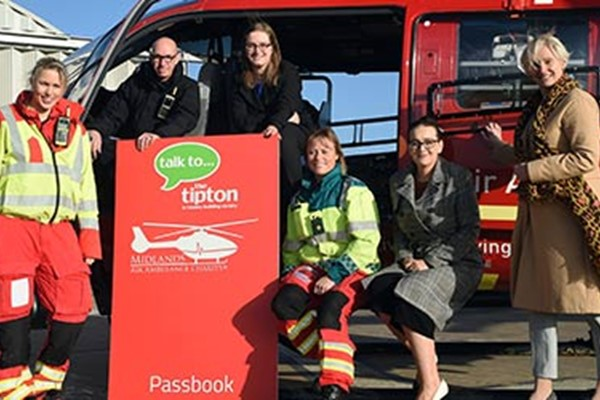The Tipton Records 250 New Savings Accounts Opened To Support Midlands Air Ambulance Charity