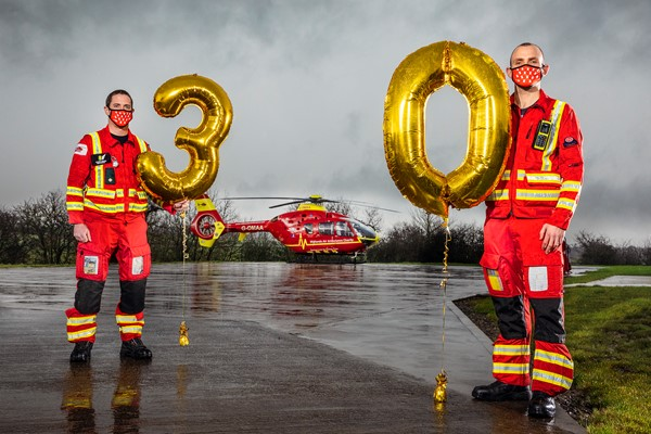 Go Red As Midlands Air Ambulance Charity Celebrates 30th Year in the Midlands