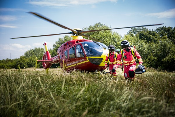 Midlands Air Ambulance Charity Supporters Thanked For Rapid Response