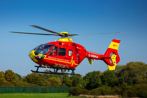 Midlands Air Ambulance Charity Lights Up the Midlands and Gloucestershire on Emergency Services Day