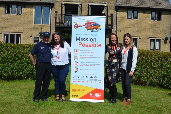Legendary Racehorse Trainer, Jonjo O'Neill Welcomes Midlands Air Ambulance Charity and Friends
