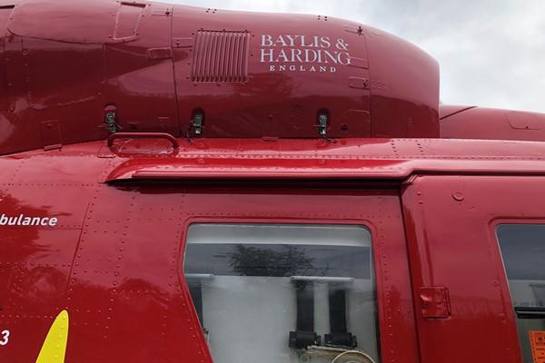 Midlands Air Ambulance Charity is Flying High with a Helping Hand from Local Luxury Hand Wash Brand